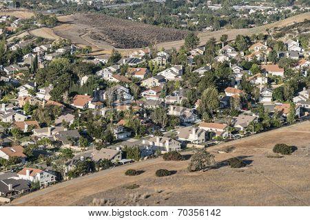 Edge of suburbia near Los Angeles in Simi Valley, California.