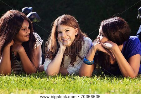 Three Friends Relaxing