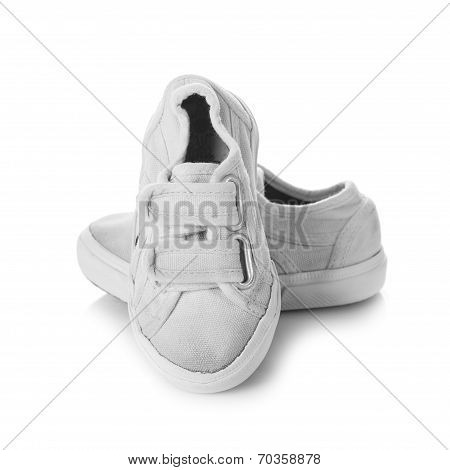 Sneakers Shoes For Kids Isolated On White Background