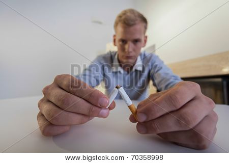 End Of Smoking In Man's Life
