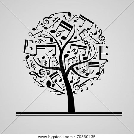 Black music tree