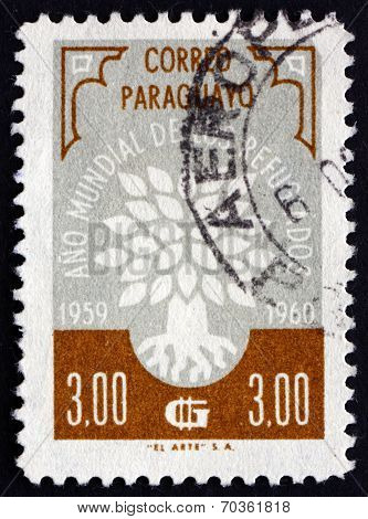 Postage Stamp Paraguay 1960 World Refugee Year Emblem