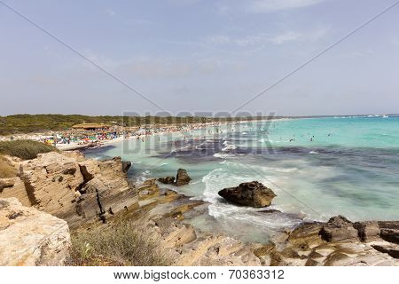 Es Trenc beach in Mallorca, Balearic Islands, Spain