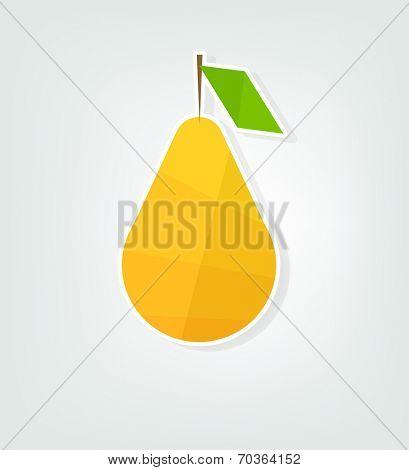flat pear sticker