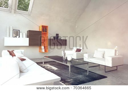 Beautiful White Inspired Front Room. Usually this area is for family and guests.