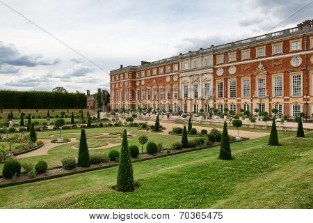 The Privy Garden and Hampton Court Palace near London, UK