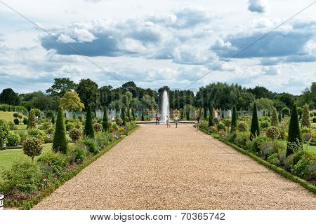 The Privy Garden at Hampton Court Palace near London, UK