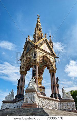 The Albert Memorial in Kensington Gardens, London, UK