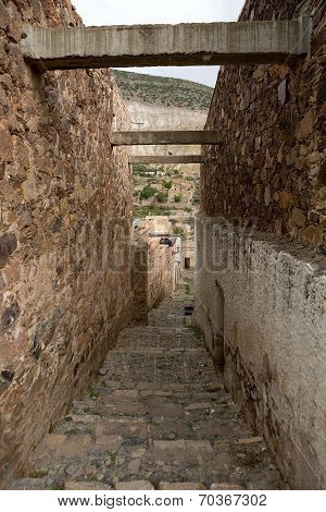 Narrow Street In Real De Catorce