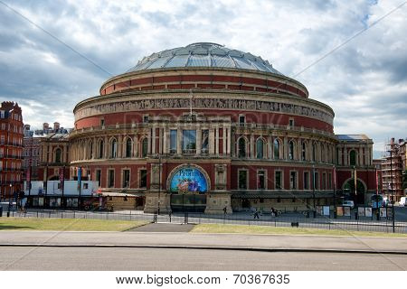 LONDON - 04 AUGUST 2014 - Royal Albert Hall as seen from Kensington Gardens on 04 August, 2014 in London
