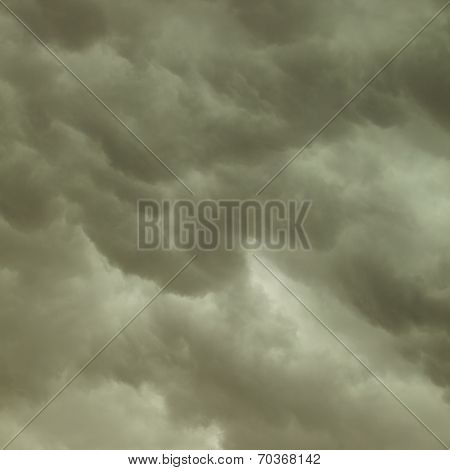 Dramatic Cloudscape. Stormy Clouds On The Sky.