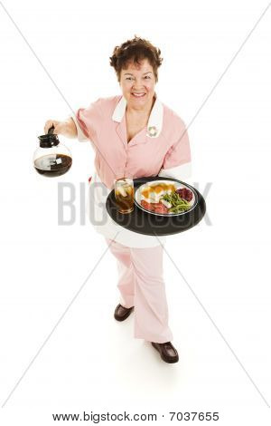 Waitress Serves You - Full Body