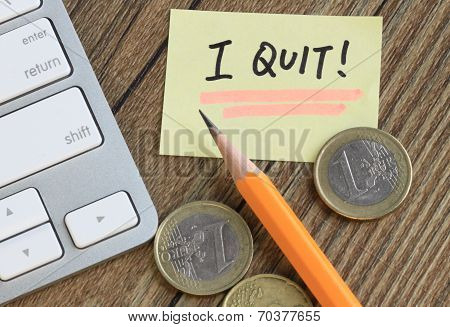 message of I quit