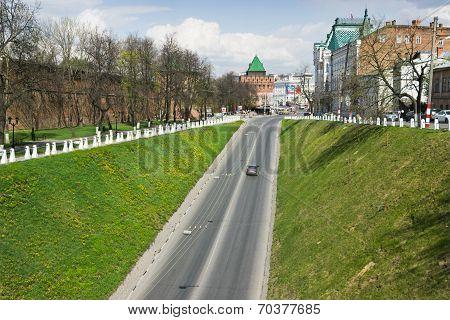 Russia: Wall and tower of Nizhny Novgorod Kremlin
