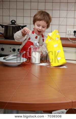 Child In The Kitchen