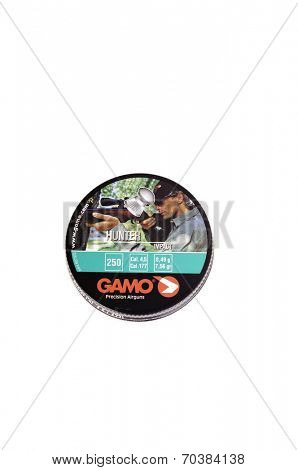 West Point - August 17, 2014: 250 lead hunting pellets .177 caliber by Gamo