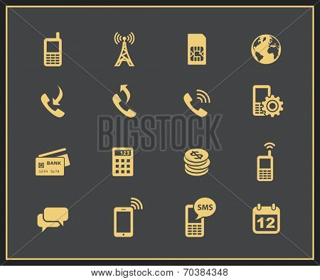 Mobile account management icons. Vector illustration