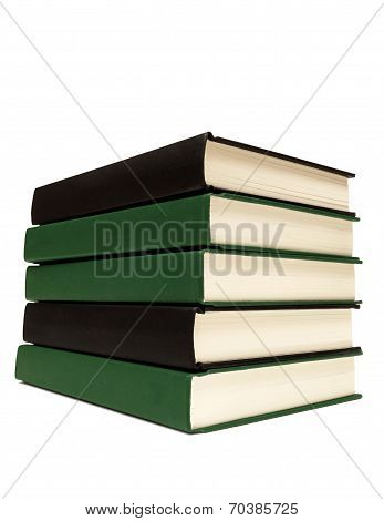 Neatly Stacked Books Isolated