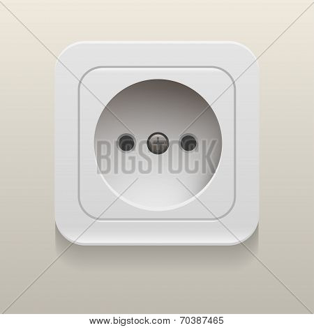 convenience outlet isolated on white background