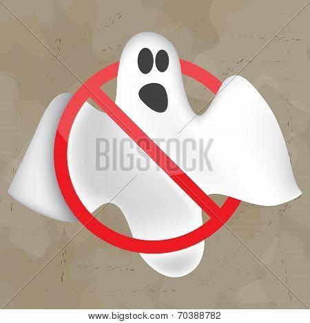 Image of flying ghost. Halloween
