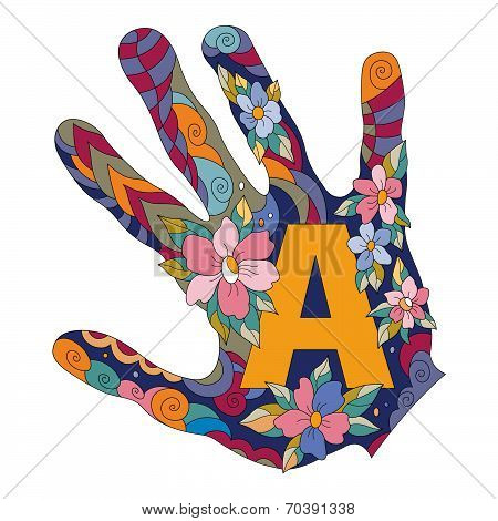 Letter A In Hand