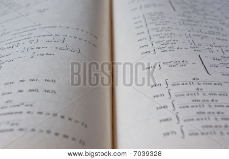 pages of a maths book