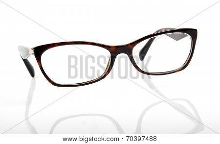 Elegant Eyeglasses Frame Isolated On White