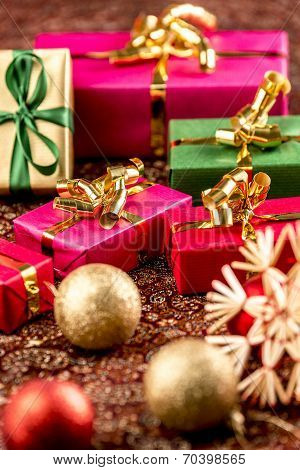 Little Christmas Gifts in Festive Setting