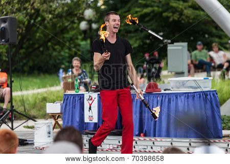 Juggler At Iowa State Fair