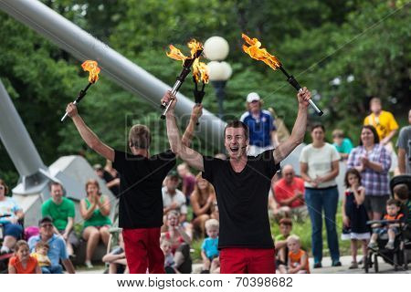 Jugglers At Iowa State Fair