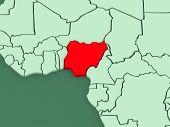 stock photo of nigeria  - Map of worlds - JPG