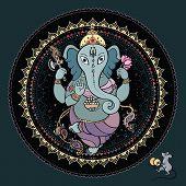 stock photo of hindu-god  - Hindu God Ganesha - JPG