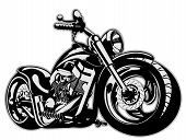 stock photo of chopper  - Vector Cartoon Motorbike - JPG