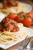 Постер, плакат: Спагетти с фрикадельками