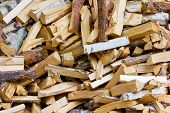 picture of firewood  - Lots of firewood to be used for heating