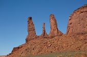 image of three sisters  - the three sisters in Monument Valley tribe park - JPG