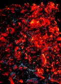 picture of ember  - Bright sparkling embers close up as background - JPG