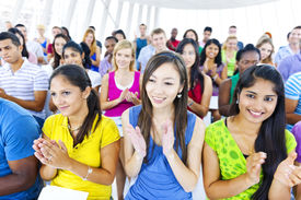 picture of applause  - Large group of Students applausing  - JPG