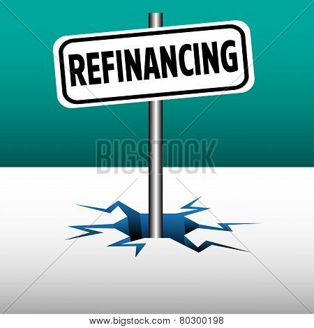 Refinancing plate