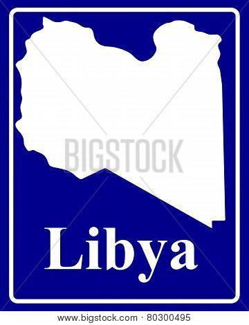 Silhouette Map Of Libya