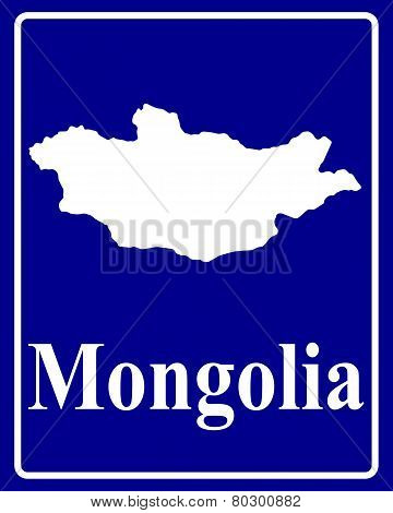 Silhouette Map Of Mongolia