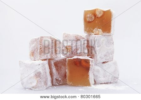 Traditional Turkish dessert, Turkish delight - Rahat Lokum