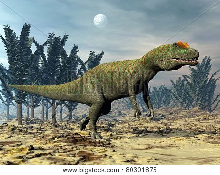 Allosaurus dinosaur - 3D render