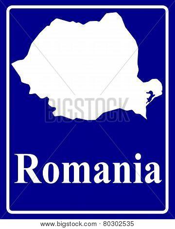 Silhouette Map Of Romania