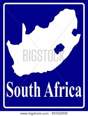 Silhouette Map Of South Africa