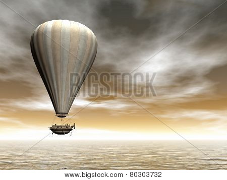 Hot air baloon - 3D render