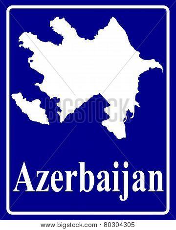 Silhouette Map Of Azerbaijan