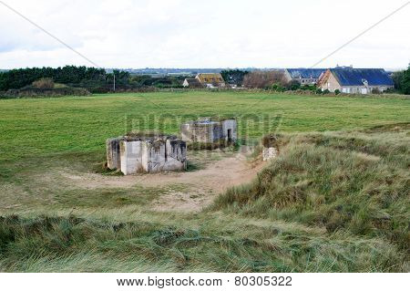 Germany Bunker Ww2 ,utah Beach.