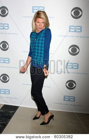 LOS ANGELES - JAN 14:  Alley Mills as the  Bold and Beautiful Celebrates 7000th Show at a CBS Television City on January 14, 2015 in Los Angeles, CA