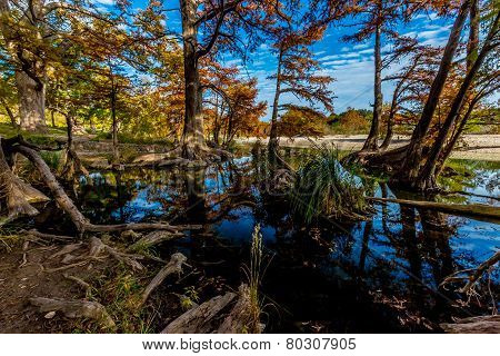 Blue Fall Skies and Clear Water at Garner State Park, Texas